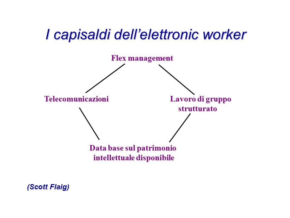 I capisaldi dell'elettronic worker