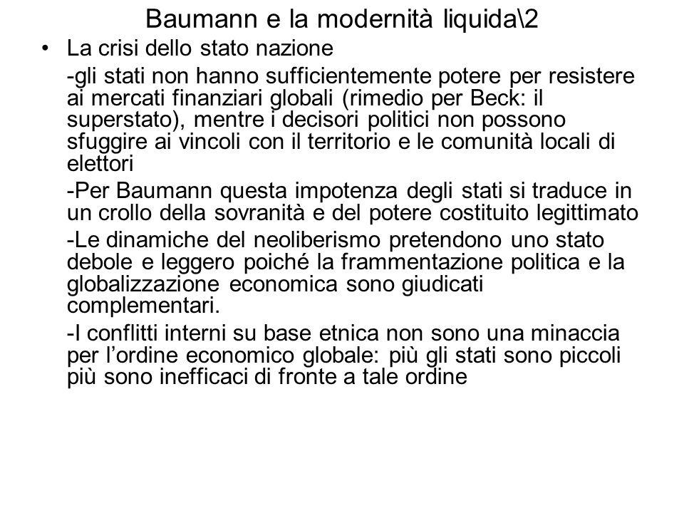 Baumann e la modernità liquida\2