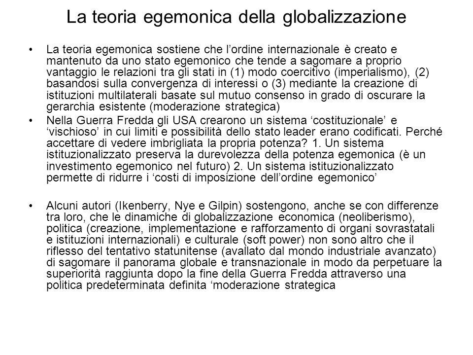 La teoria egemonica della globalizzazione