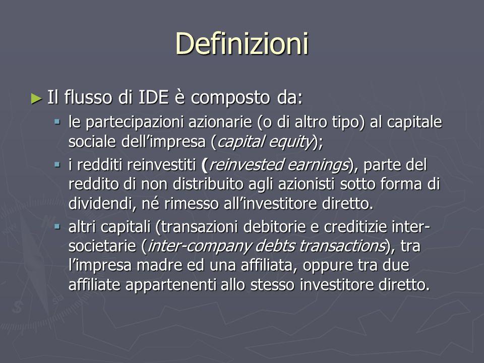 Definizioni Il flusso di IDE è composto da: