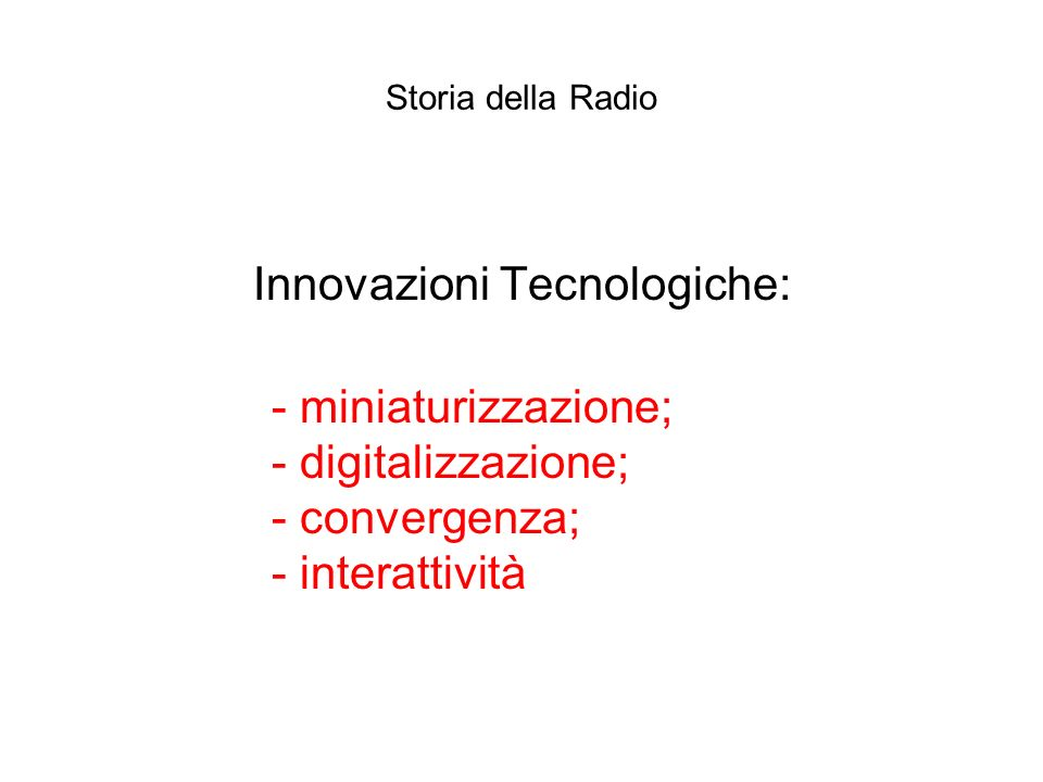 Innovazioni Tecnologiche: