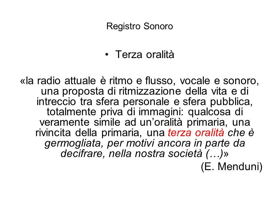 Registro Sonoro Terza oralità.