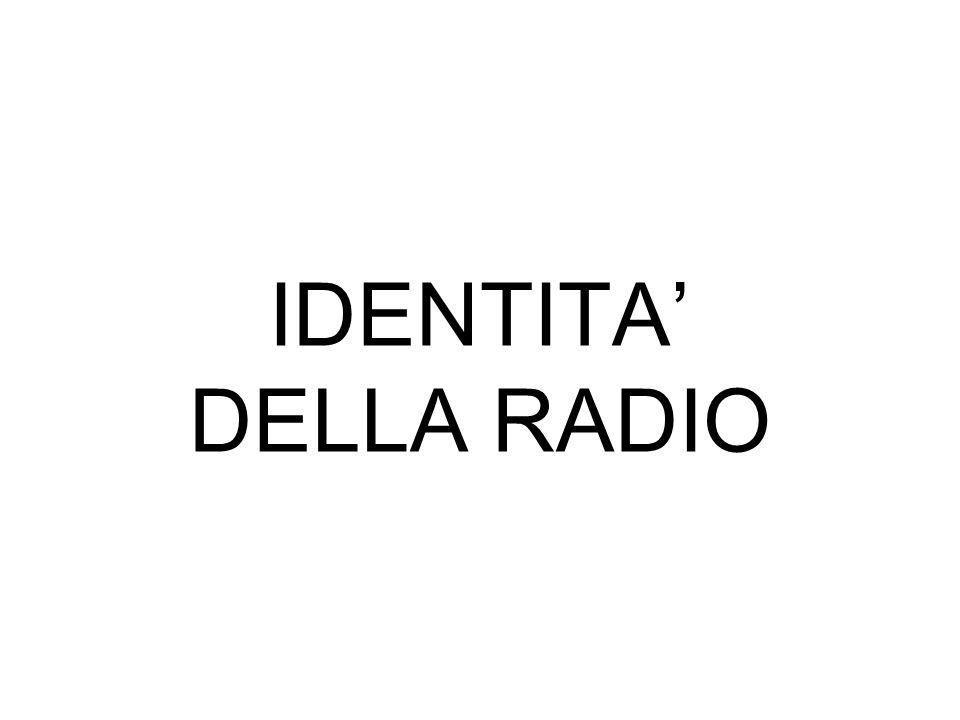 IDENTITA' DELLA RADIO
