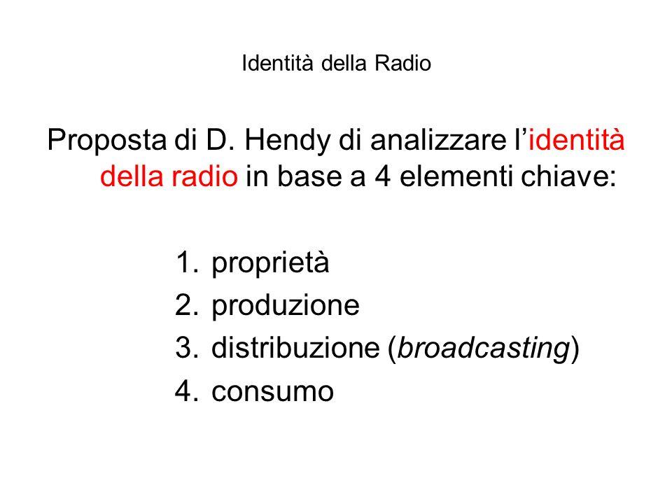 distribuzione (broadcasting) consumo