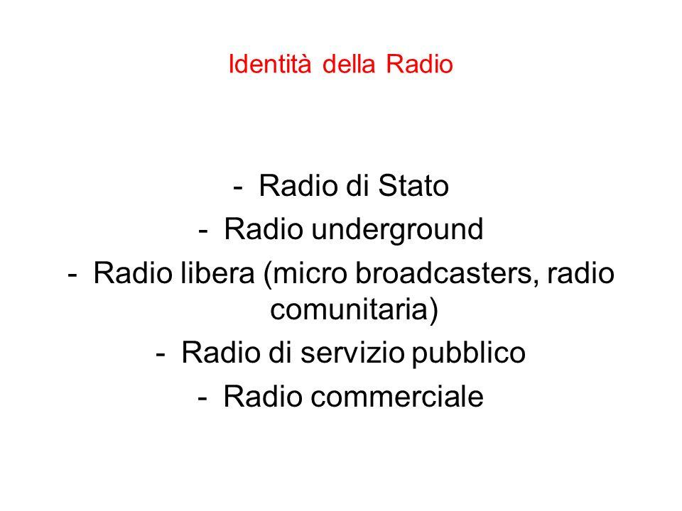 Radio libera (micro broadcasters, radio comunitaria)