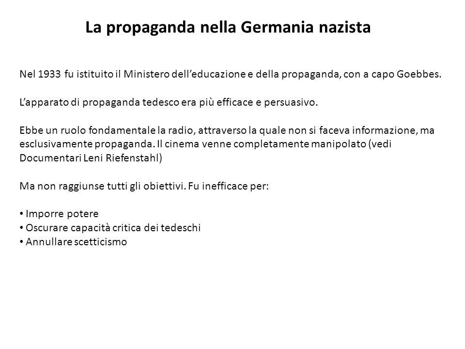 La propaganda nella Germania nazista