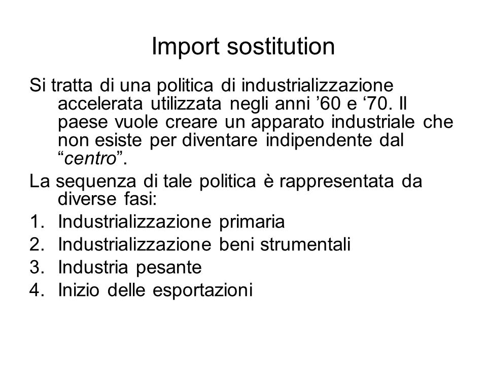 Import sostitution