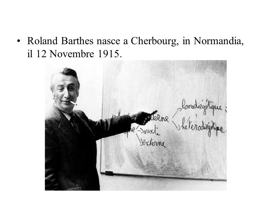 Roland Barthes nasce a Cherbourg, in Normandia, il 12 Novembre 1915.