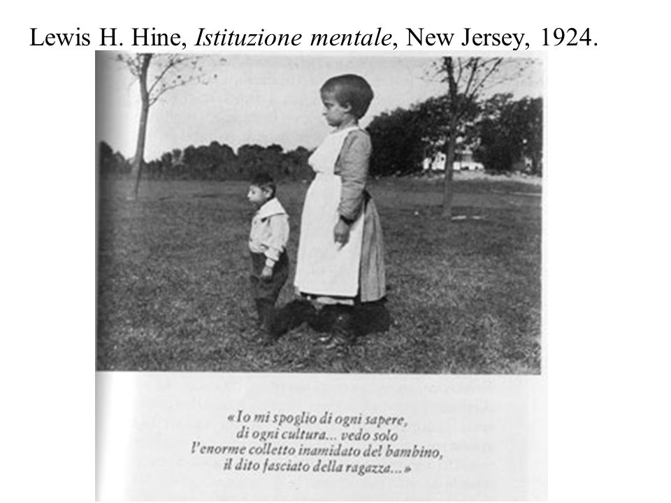 Lewis H. Hine, Istituzione mentale, New Jersey, 1924.