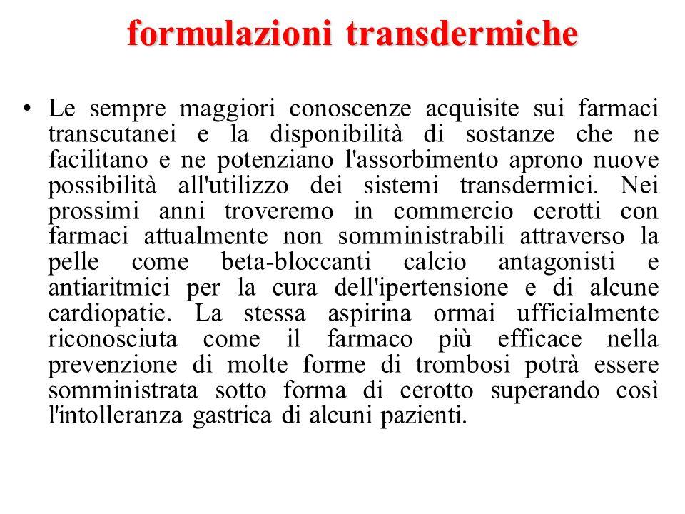 formulazioni transdermiche