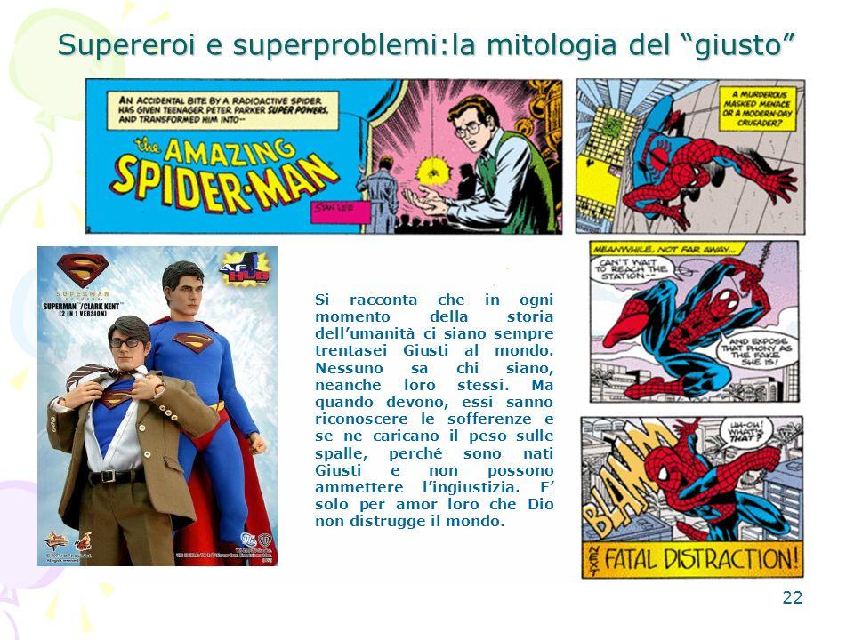 Supereroi e superproblemi:la mitologia del giusto
