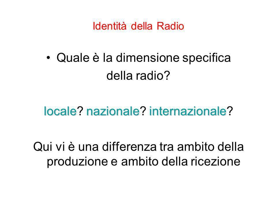 Quale è la dimensione specifica della radio