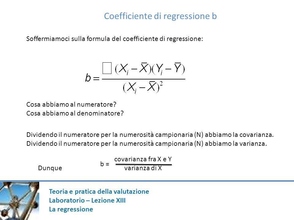 Coefficiente di regressione b