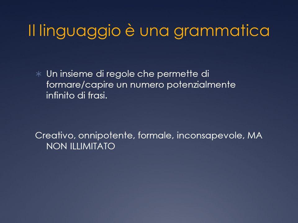 Il linguaggio è una grammatica