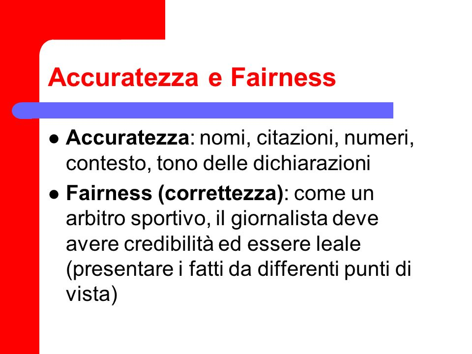 Accuratezza e Fairness