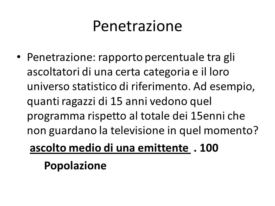 Penetrazione