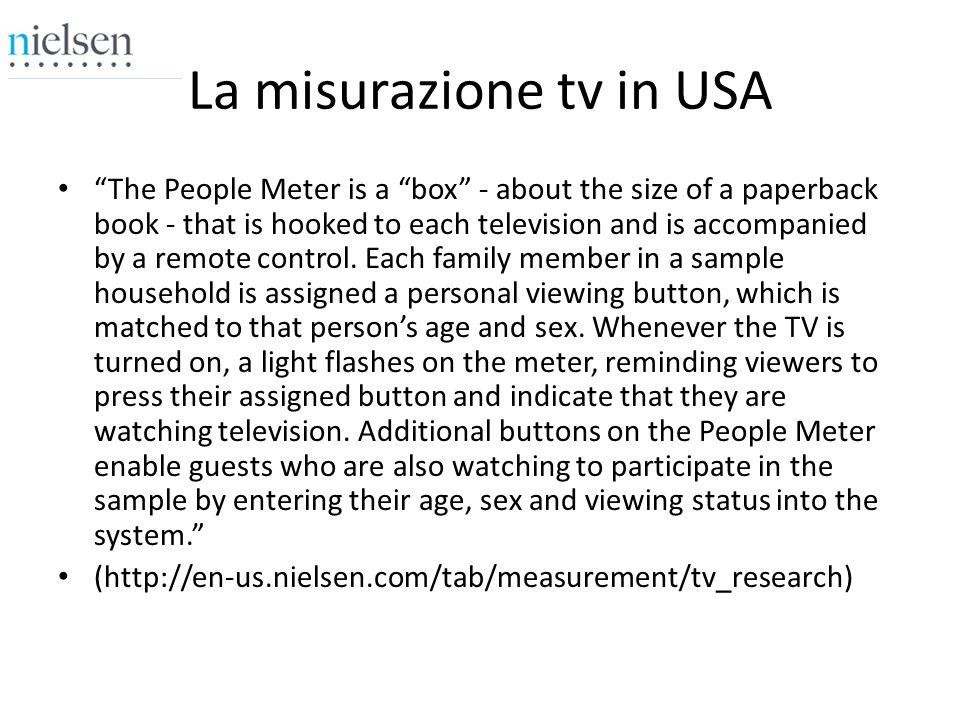 La misurazione tv in USA