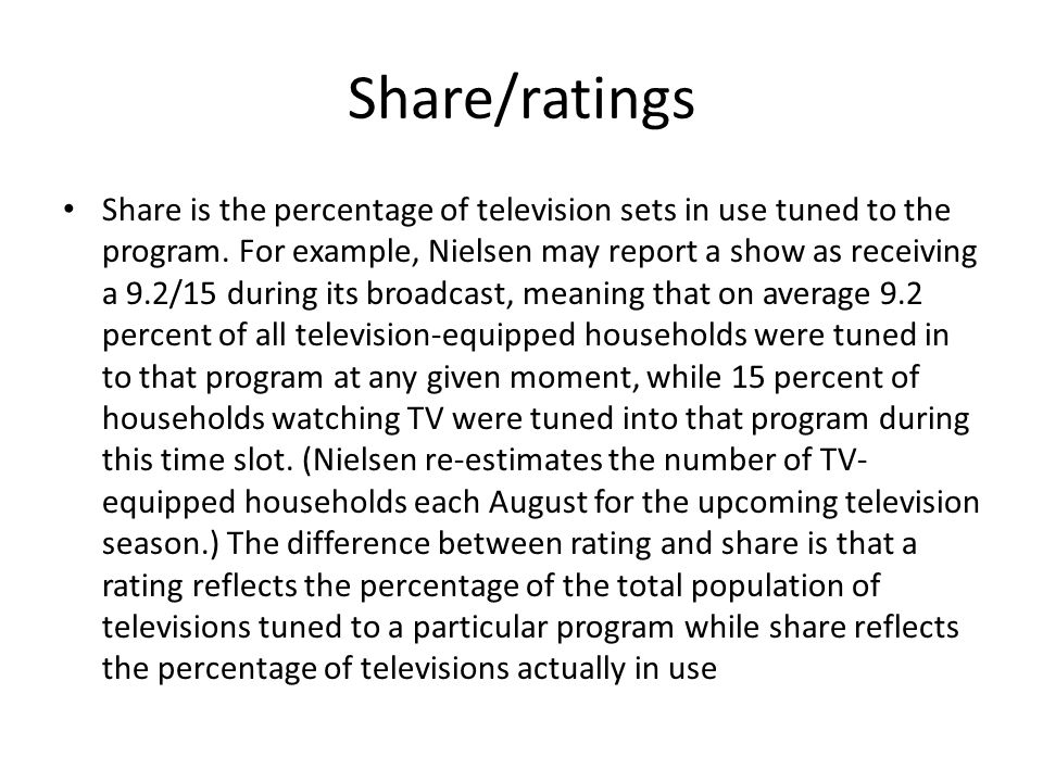 Share/ratings