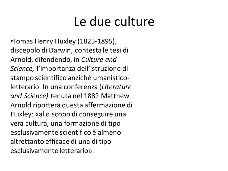 Le due culture