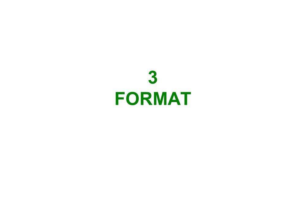 3 FORMAT