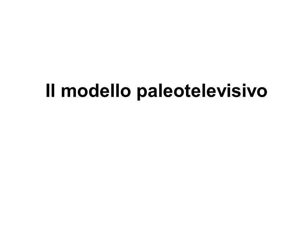 Il modello paleotelevisivo