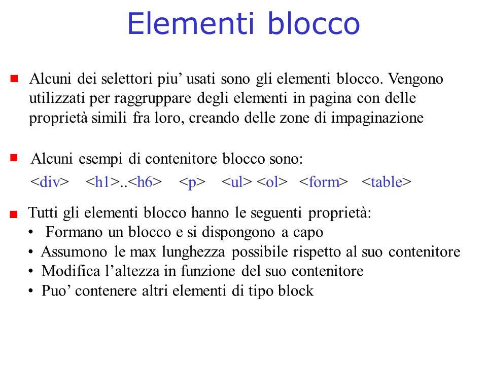 Elementi blocco