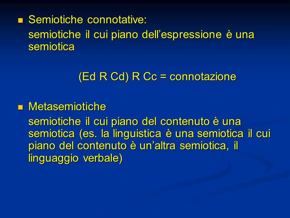 Semiotiche connotative: