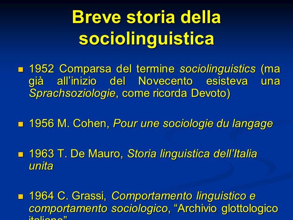 Breve storia della sociolinguistica