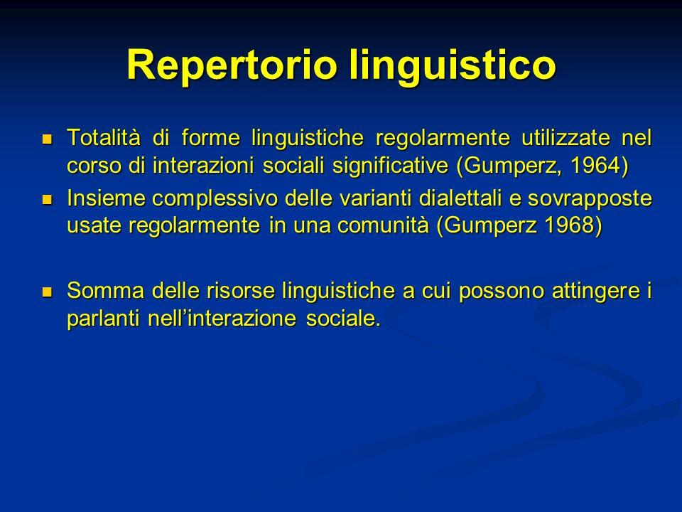 Repertorio linguistico