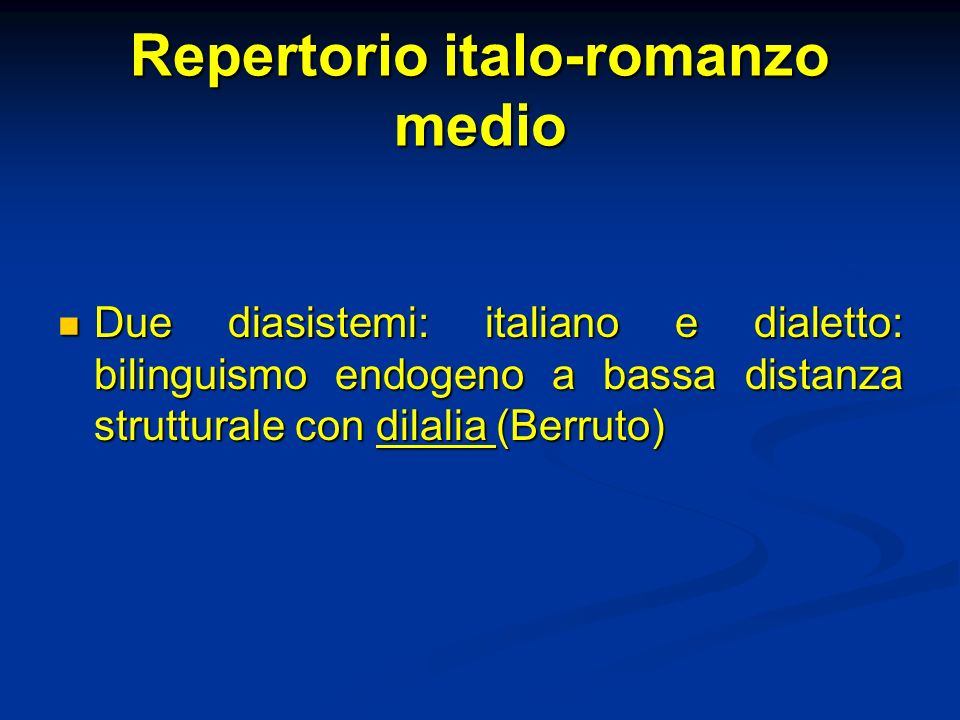 Repertorio italo-romanzo medio