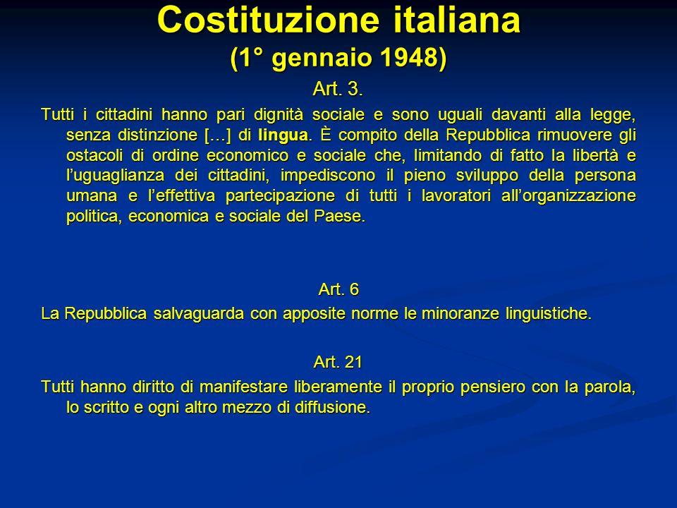 Costituzione italiana (1° gennaio 1948)