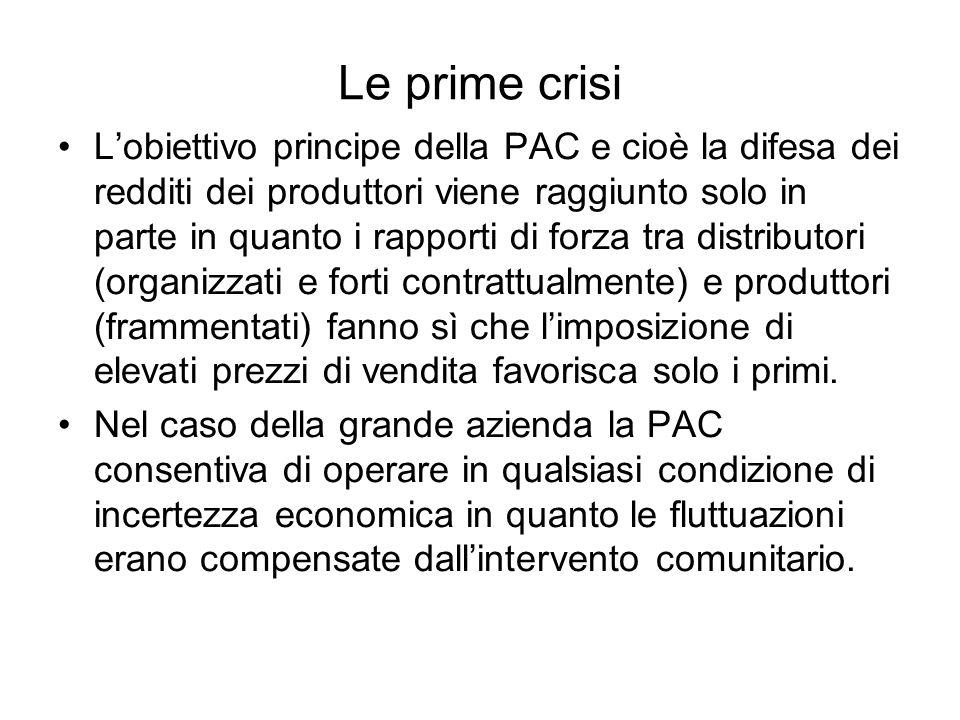 Le prime crisi