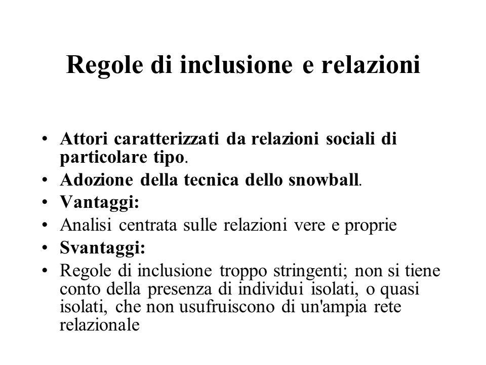 Regole di inclusione e relazioni