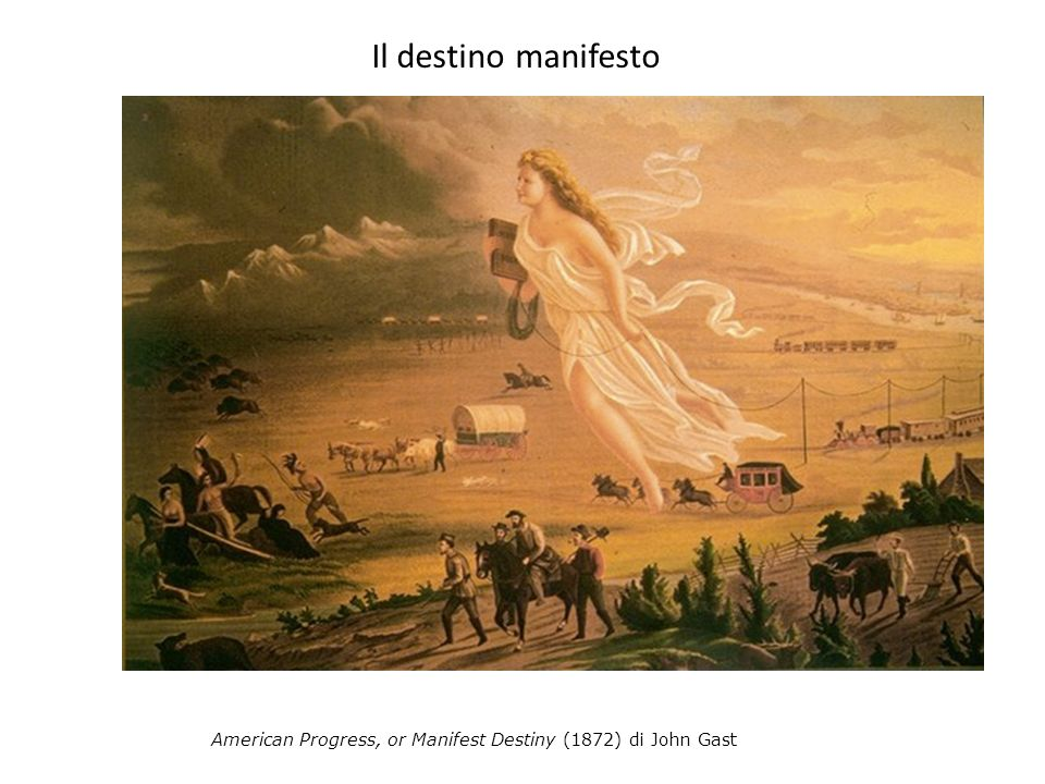 Il destino manifesto American Progress, or Manifest Destiny (1872) di John Gast
