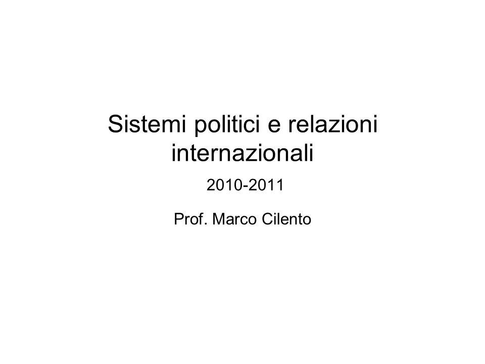 Sistemi politici e relazioni internazionali 2010-2011
