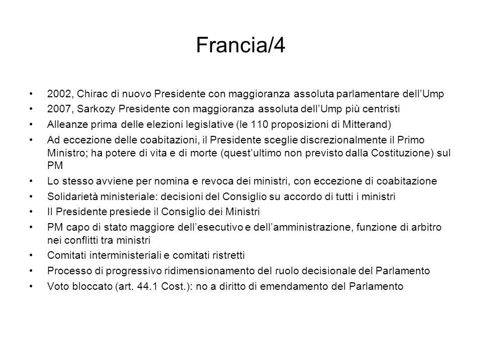 Francia/4 2002, Chirac di nuovo Presidente con maggioranza assoluta parlamentare dell'Ump.