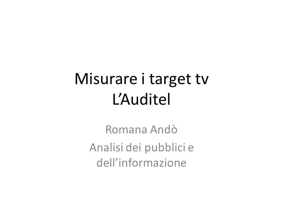 Misurare i target tv L'Auditel