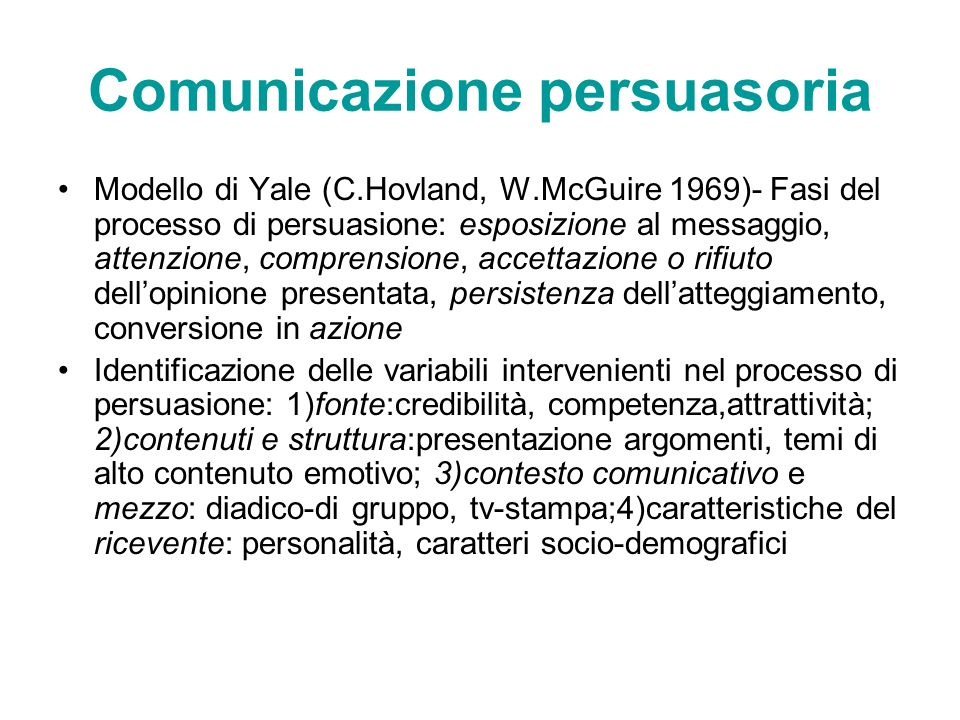 Comunicazione persuasoria