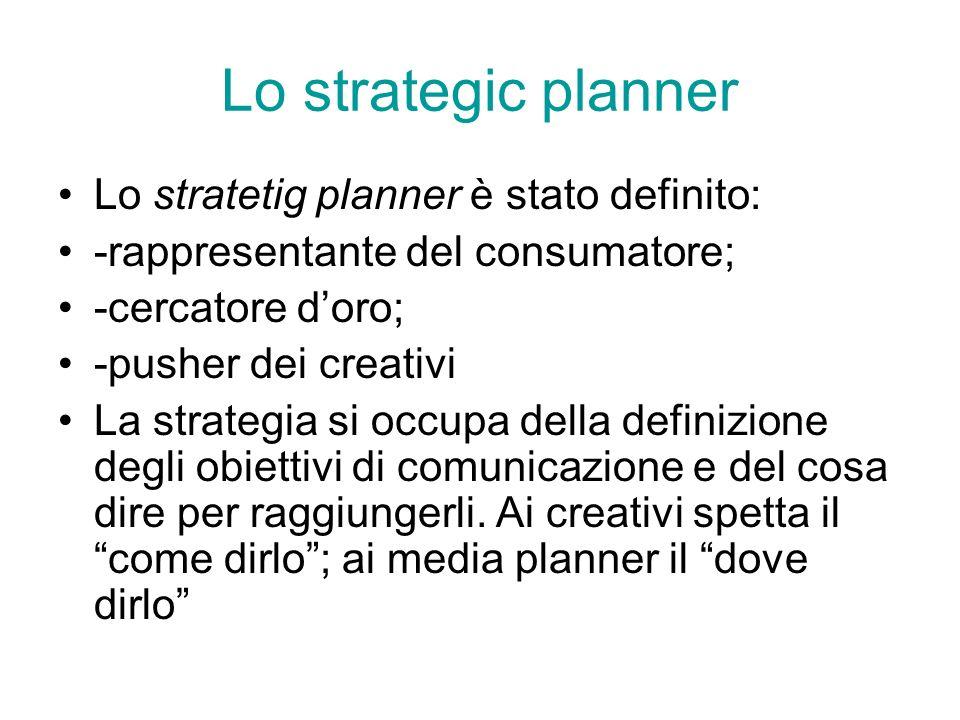 Lo strategic planner Lo stratetig planner è stato definito: