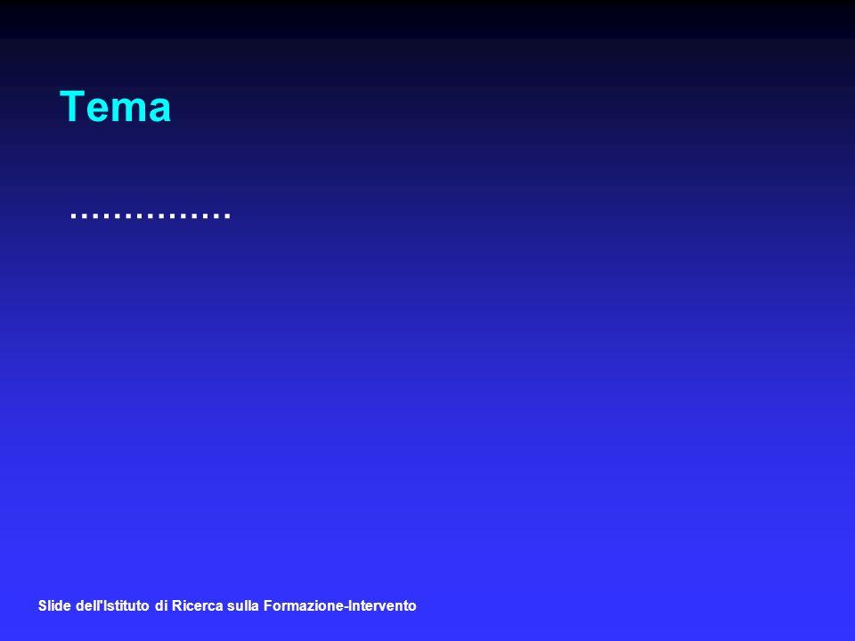 Tema …………… Slide dell Istituto di Ricerca sulla Formazione-Intervento