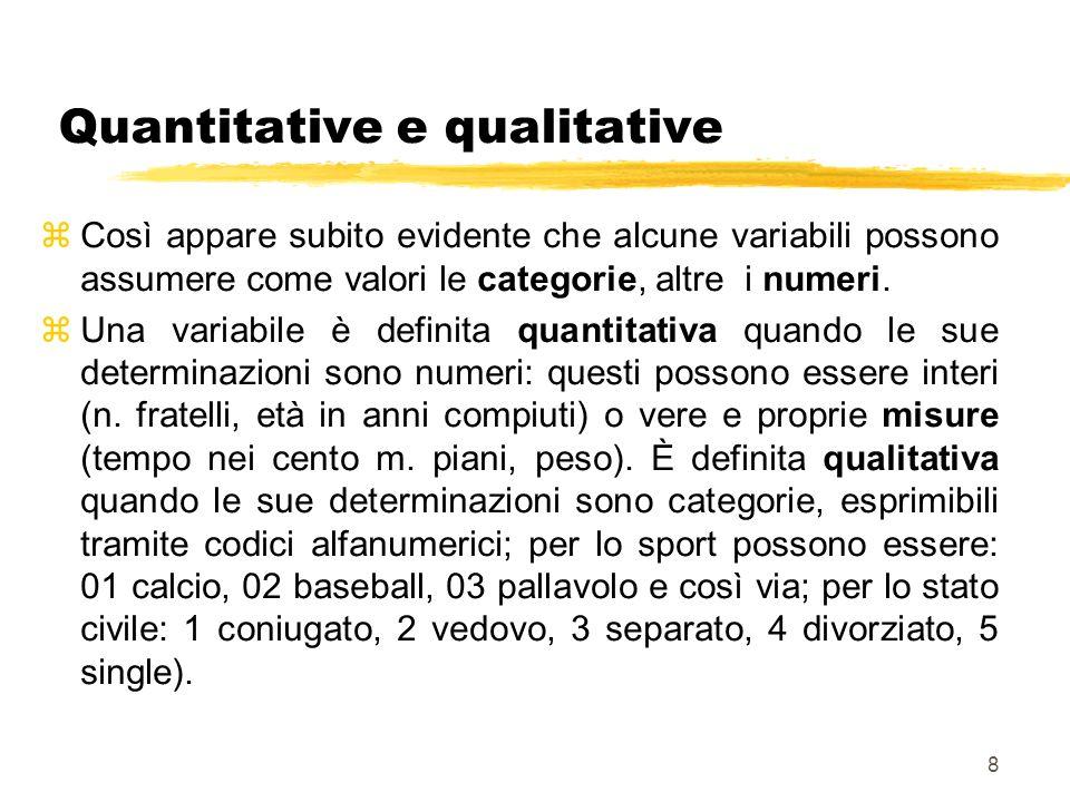 Quantitative e qualitative