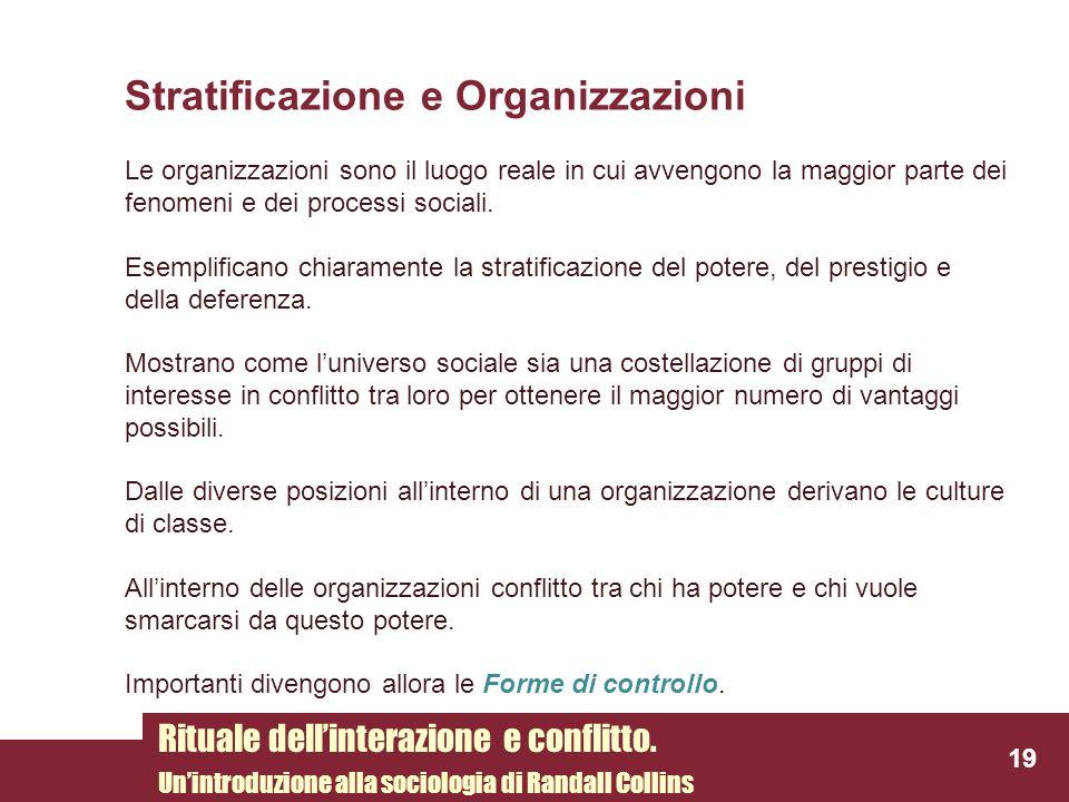 Stratificazione e Organizzazioni