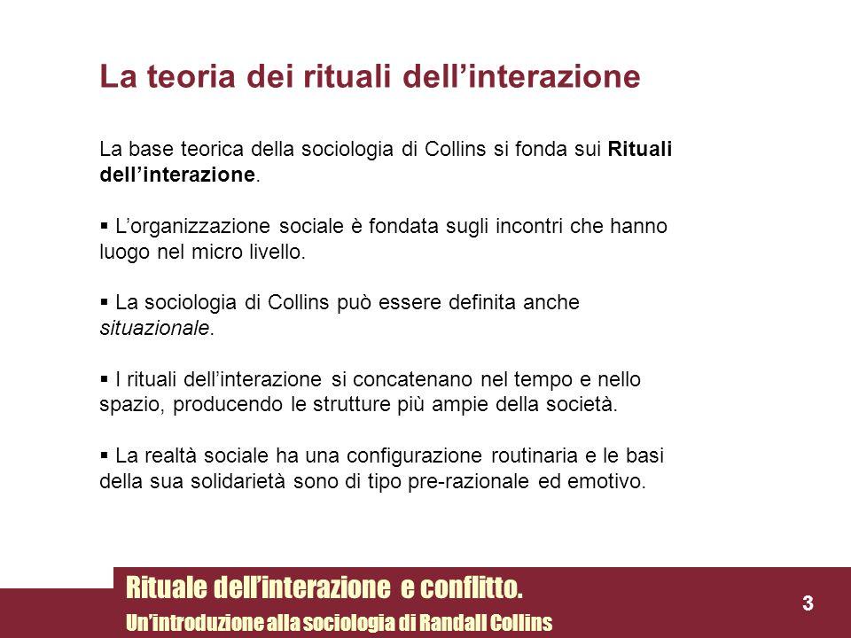 La teoria dei rituali dell'interazione