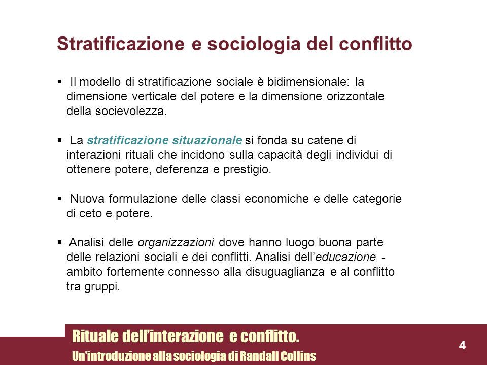 Stratificazione e sociologia del conflitto
