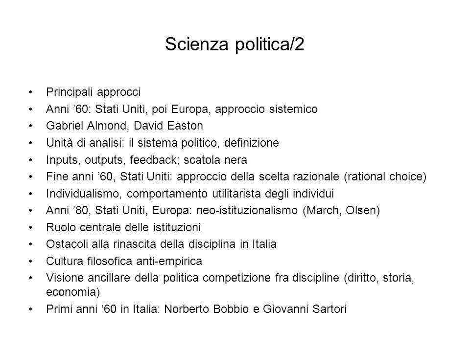 Scienza politica/2 Principali approcci