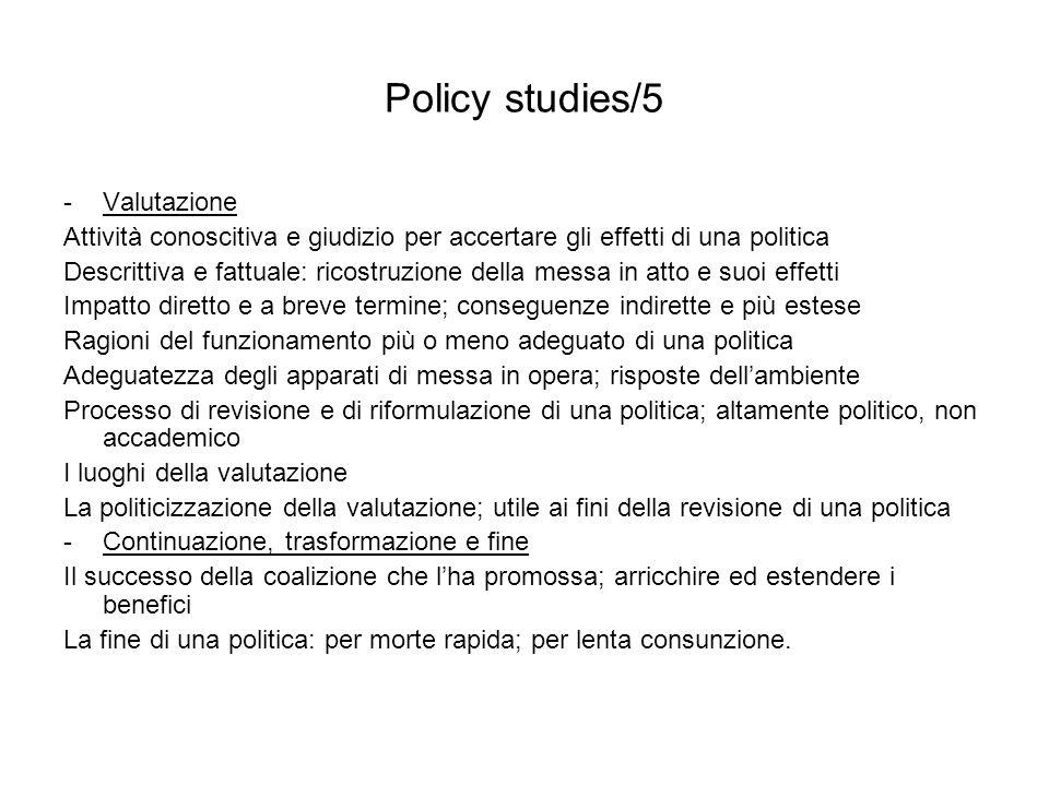 Policy studies/5 Valutazione