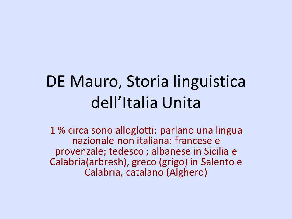 DE Mauro, Storia linguistica dell'Italia Unita