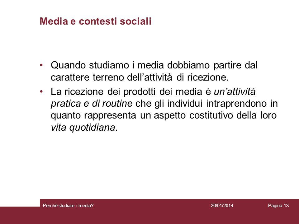 Media e contesti sociali