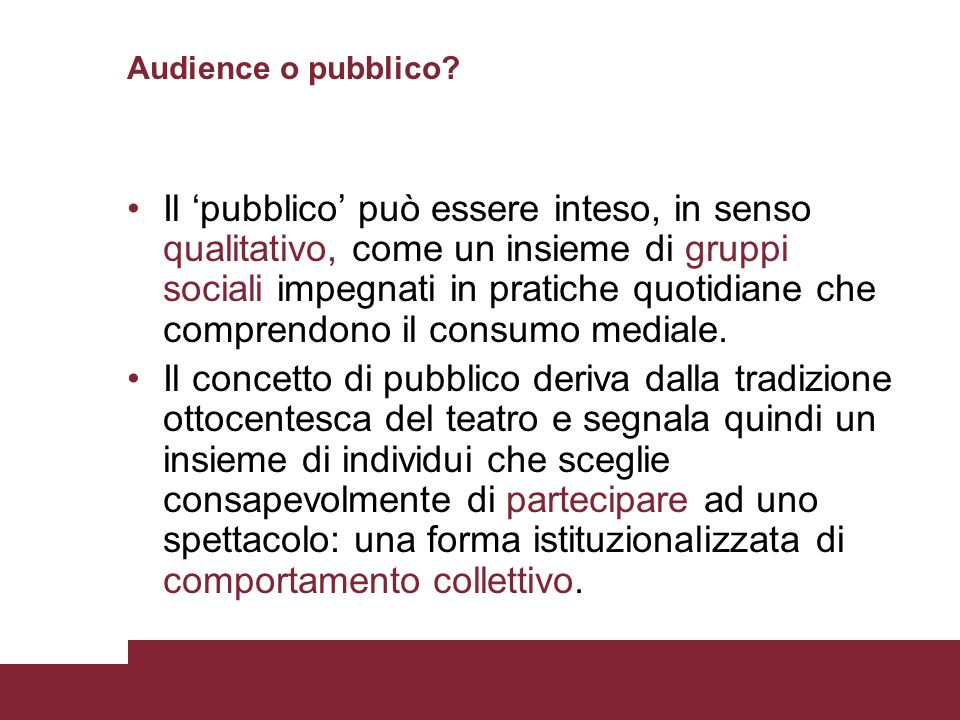 Audience o pubblico