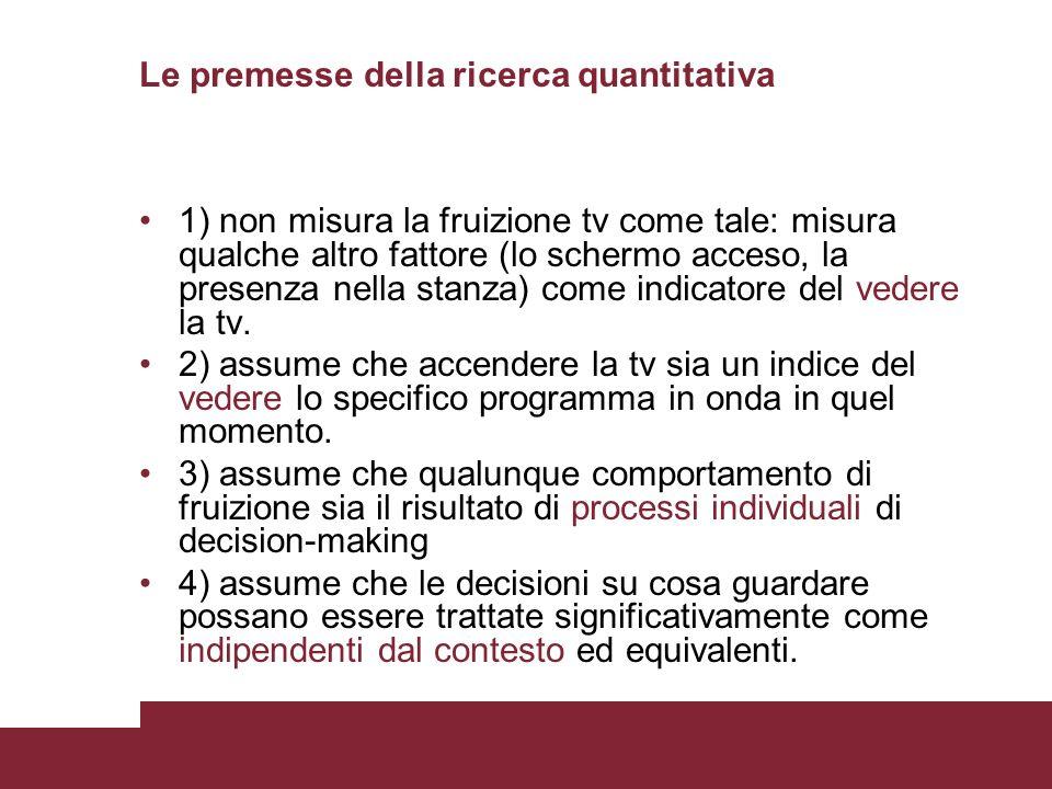 Le premesse della ricerca quantitativa
